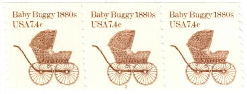 1984 7.4c Transportation Series: Baby Buggy, 1880s