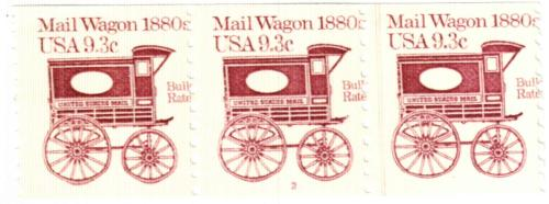1981 9.3c Transportation Series: Mail Wagon, 1880s