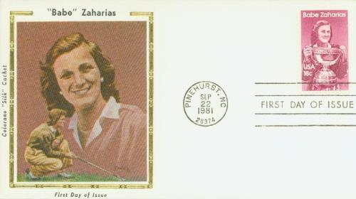 1981 18c Babe Zaharias