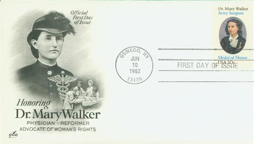 1982 20c Dr. Mary Walker