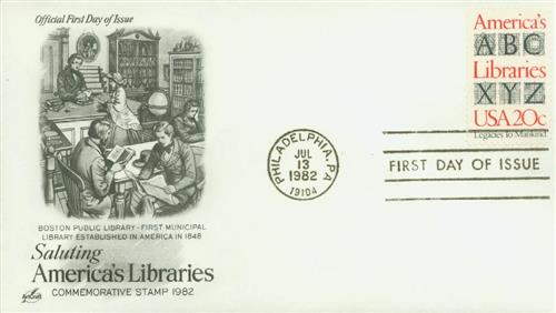1982 20c America's Libraries