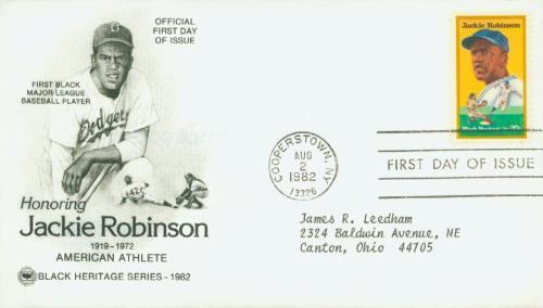 1982 20c Black Heritage: Jackie Robinson