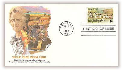 1982 20c Wolf Trap Farm Park