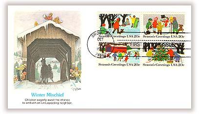 1982 20c 1982 20c Contemporary Christmas: Season's Greetings