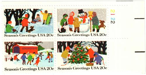 1982 20c 1982 20c Contemporary Christmas: Season's Greetings