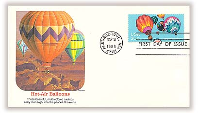 1983 20c Balloons: Hot Air Ballooning