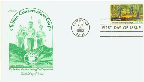 1983 20c Civilian Conservation Corps 50th anniversary