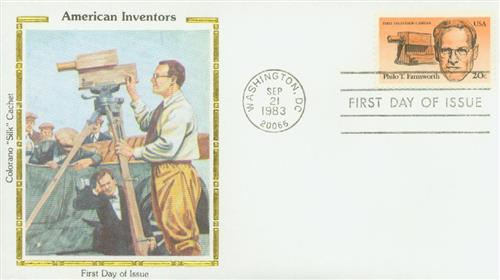 U.S. #2058 FDC – Farnsworth held 300 patents, most of which were for radio and television.