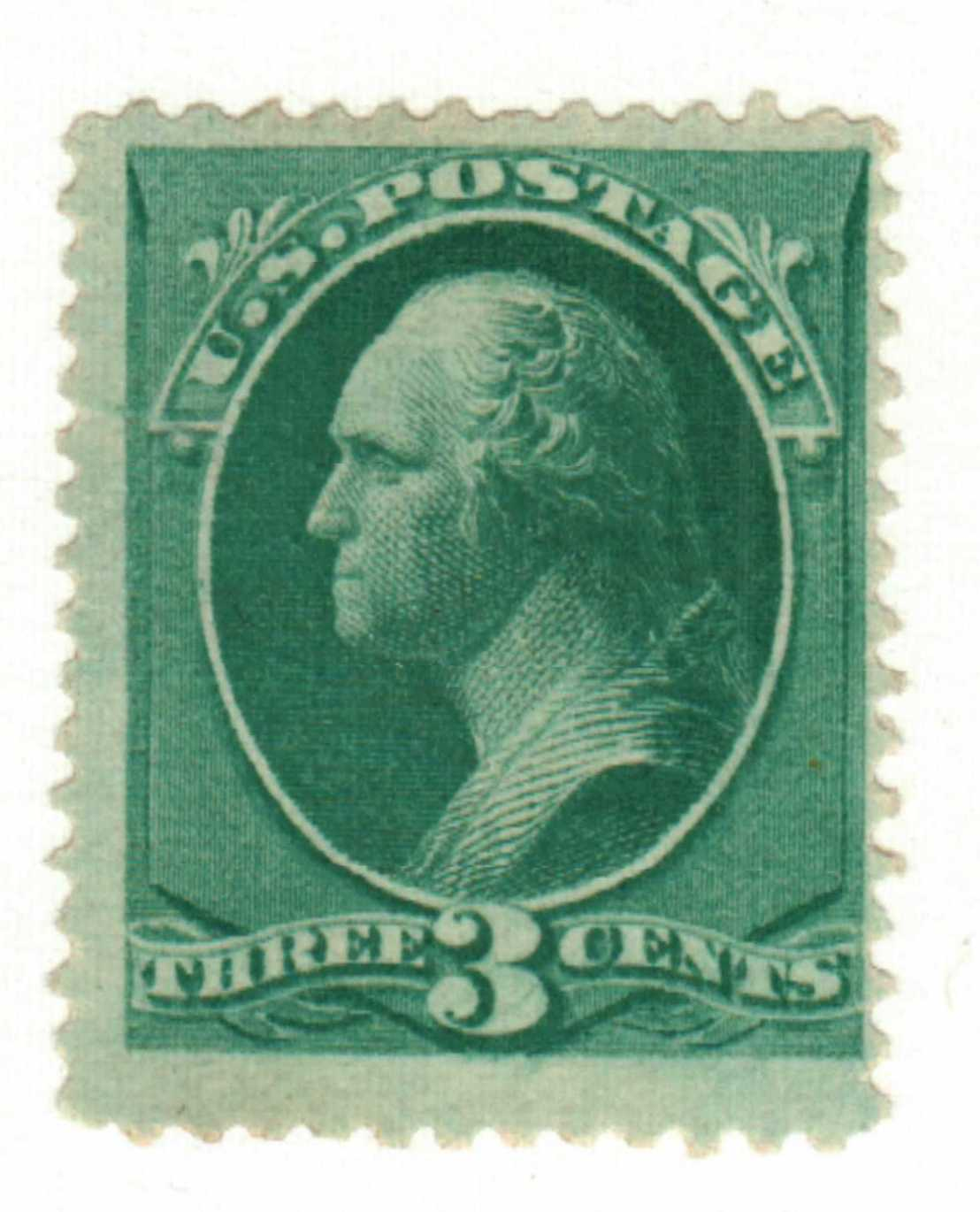 1881 3c Washington, blue green
