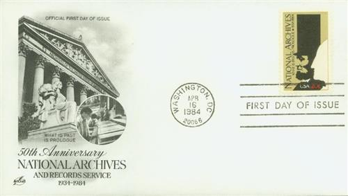 1984 National Archives Classic First Day Cover