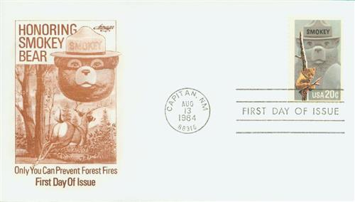 1984 20c Smokey Bear, Fire Prevention