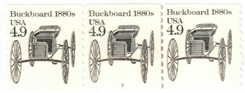 1985 4.9c Transportation Series: Buckboard, 1880s