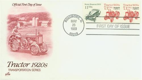 1989 7.1c Tractor Zip+4 precancel
