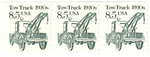 1987 8.5c Transportation Series: Tow Truck, 1920s