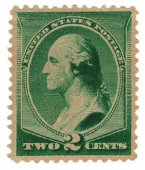 1887 2c Washington, green