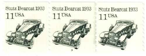 1985 11c Transportation Series: Stutz Bearcar, 1933