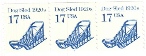 1986 17c Transportation Series: Dog Sled 1880s