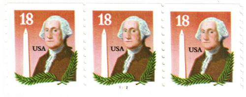 1985 18c George Washington and Monument