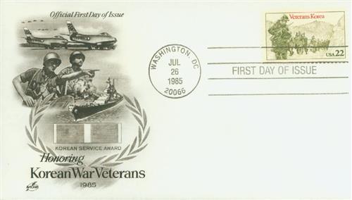 1985 22c Korean War Veterans