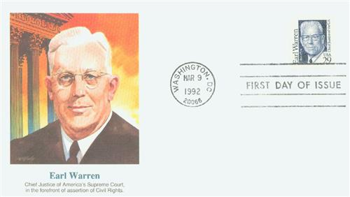 1992 29c Great Americans: Earl Warren