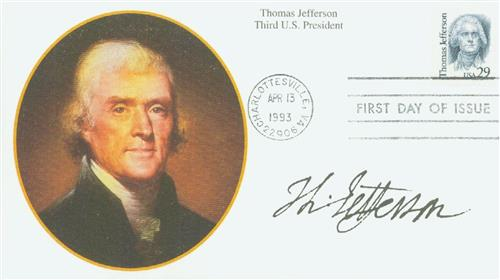 1993 29c Great Americans: Thomas Jefferson