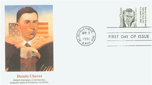 1991 35c Great Americans: Dennis Chavez