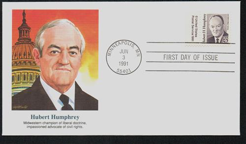 1991 52c Great Americans: Hubert H. Humphrey