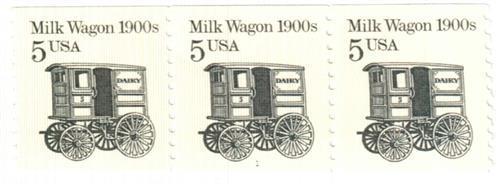1988 5c Transportation Series: Milk Wagon, 1900s