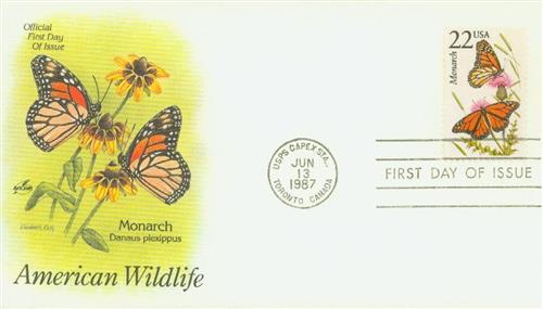 1987 22c Monarch Butterfly