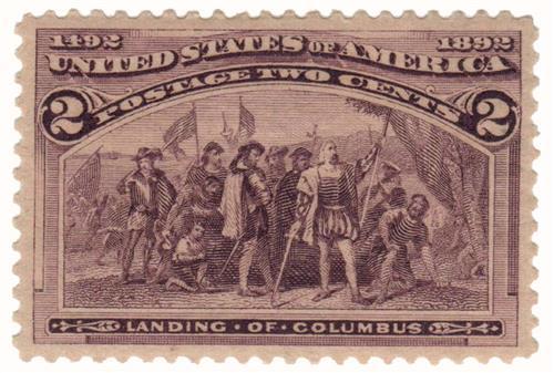 1893 2c Columbian Commemorative: Landing of Columbus