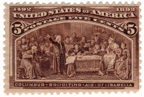 1893 5c Columbian Commemorative: Columbus Soliciting Aid of Isabella