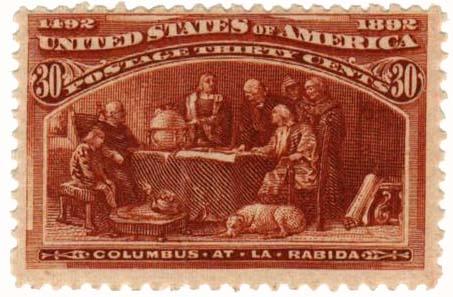 1893 30c Columbian Commemorative: Columbus at La Rabida
