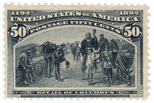 1893 50c Columbian Commemorative: Recall of Columbus