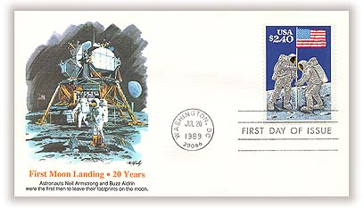 1989 $2.40 Moon Landing