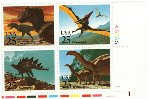 1989 25c Prehistoric Animals