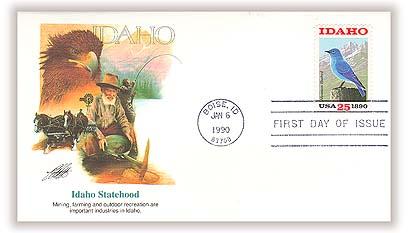 1990 25c Idaho Statehood