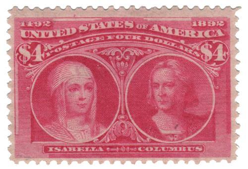 1893 $4 Columbian Commemorative: Isabella and Columbus