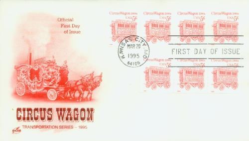 1995 5c Transportation Series: Circus Wagon 1900s