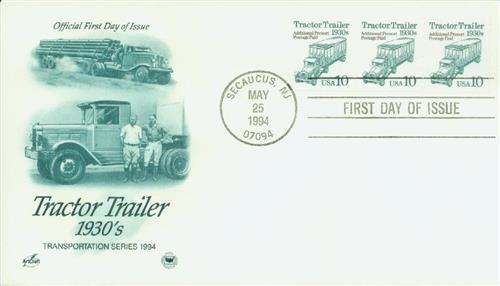 1994 10c Tractor Trailer, gravure coil