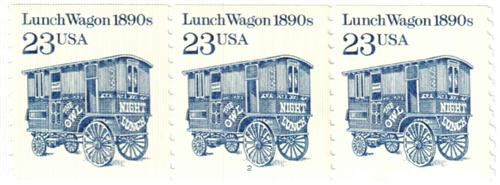 1991 23c Transportation Series: Lunch Wagon, 1890s