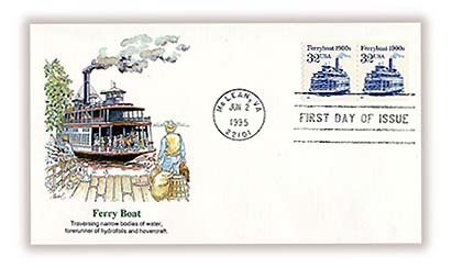 1995 32c Transportation Series: Ferryboat, 1900s