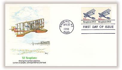 1990-94 $1 Transportation Series: Seaplane, 1914