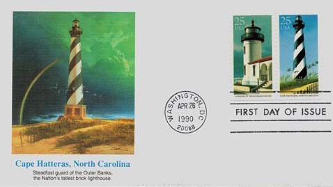 1990 25c Admiralty/Hatteras First Day Cover