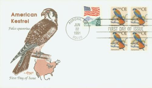1991 1c American Kestrel