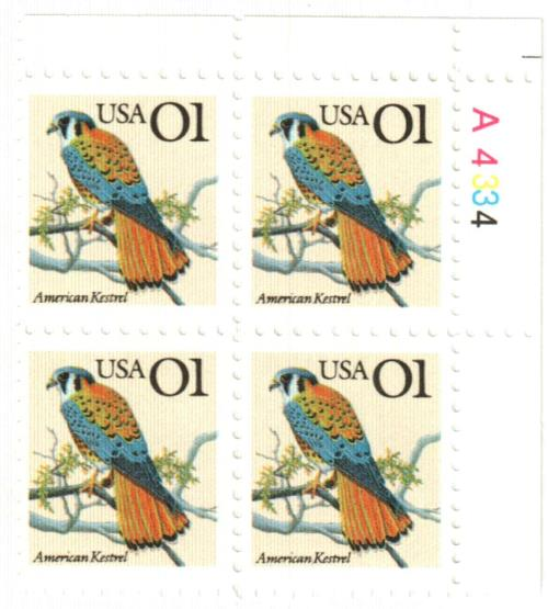 1991 1c American Kestrel for sale at Mystic Stamp Company