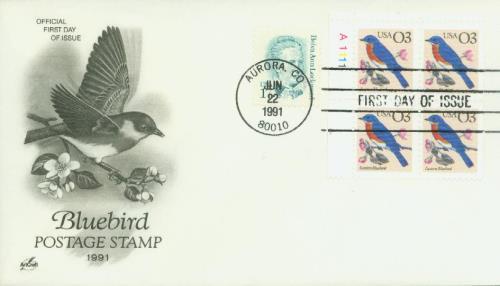 1991 3c Eastern Bluebird