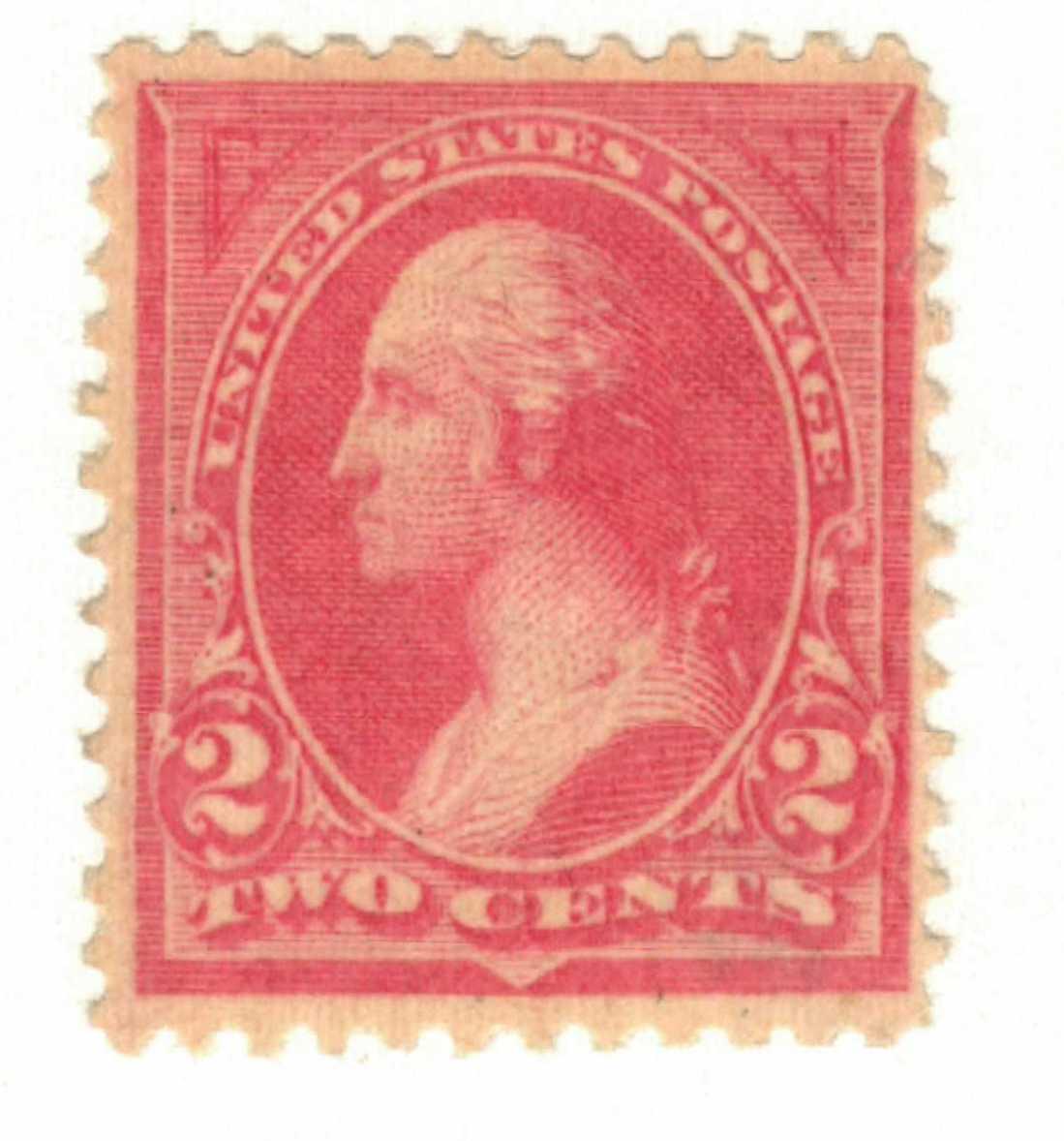 1894 2c Washington, pink, unwatermarked, type I