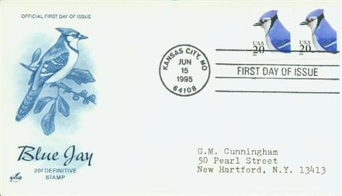 1995 20c Blue Jay from booklet