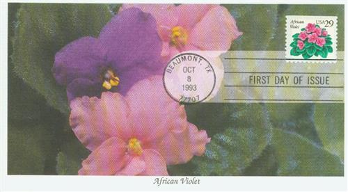 1993 29c African Violet
