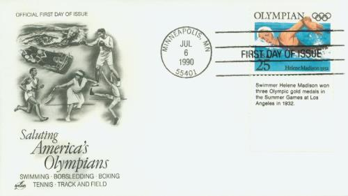 1990 25c Olympians: Helene Madison